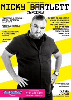 Micky Bartlett 2017 Edinburgh Festival  poster