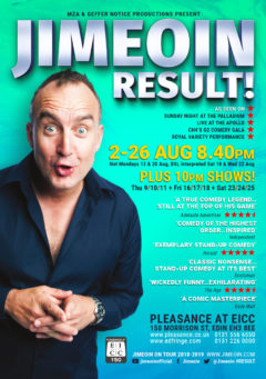 Jimeoin Edinburgh 2018 poster